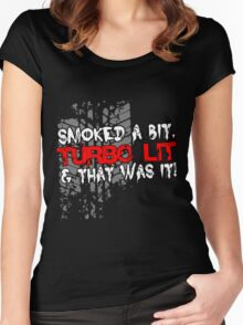 smoked Women's Fitted Scoop T-Shirt