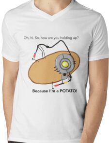 GladOs Potato Mens V-Neck T-Shirt