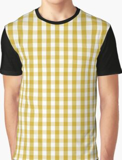 Primrose Yellow Mini Gingham Check Plaid Graphic T-Shirt