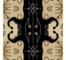 Modern abstract, contemporary design, black and gold Photographic Print