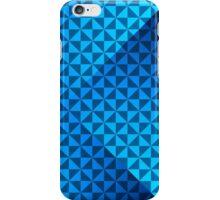 creative blue triangular pattern iPhone Case/Skin