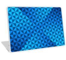 creative blue triangular pattern Laptop Skin