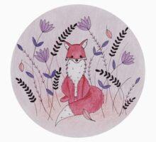 Beautiful Fox in the Garden One Piece - Long Sleeve