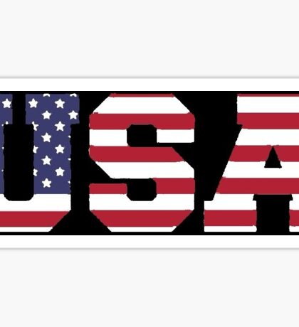 USA Black background, painted texture Sticker