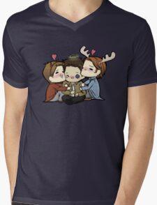 Team Free Will Hug Mens V-Neck T-Shirt