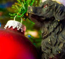 Puppys Christmas Sticker