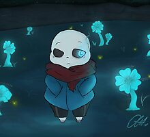sans and the echo flowers by skittysaurus