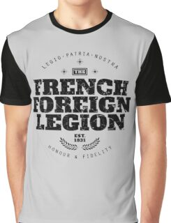 French Foreign Legion - Honour and Fidelity black Graphic T-Shirt