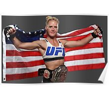 Holly Holm American Flag Poster