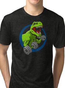 Big Guns Dinosaur Tri-blend T-Shirt