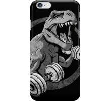 Big Guns Dinosaur - Halftone iPhone Case/Skin