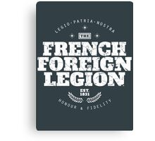 French Foreign Legion - Honour and Fidelity Canvas Print