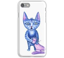 Sleepy cute cartoon cat early in the morning  iPhone Case/Skin
