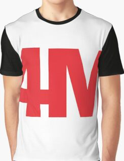 4minute red Graphic T-Shirt