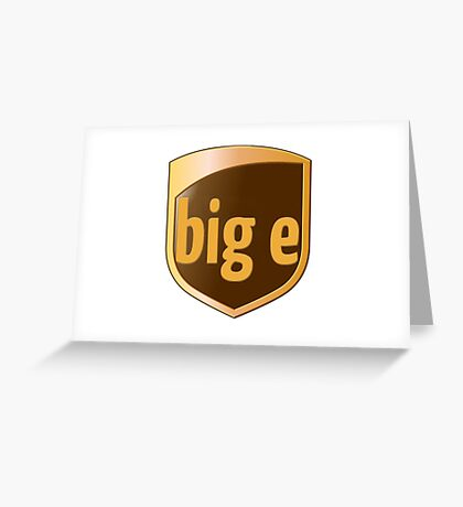 Big E's Package (UPS) Greeting Card