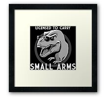 Licensed to Carry Small Arms - Halftone Framed Print