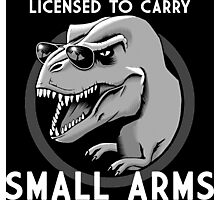 Licensed to Carry Small Arms - Halftone Photographic Print