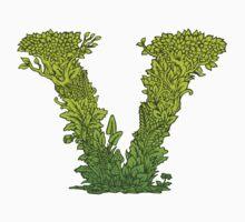 V is for Vegetarian, Vegan, Vitality.  One Piece - Long Sleeve