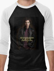 Handsome Ian Somerhalder Damon Salvatore Men's Baseball ¾ T-Shirt
