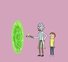 Rick & Morty makin' a portal by vladmartin
