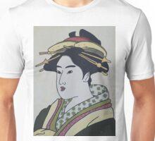 Geisha with yellow combs Unisex T-Shirt
