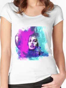 Margot Robbie Women's Fitted Scoop T-Shirt