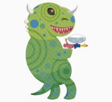 Lizard Thing with a Squirt Gun Kids Tee