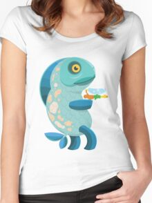 Fish Thing with a Squirt Gun Women's Fitted Scoop T-Shirt