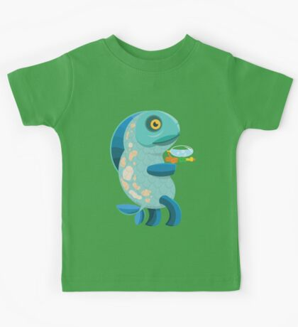 Fish Thing with a Squirt Gun Kids Tee