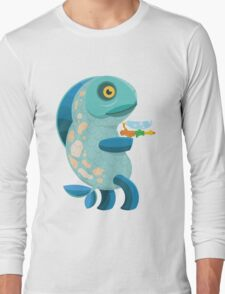 Fish Thing with a Squirt Gun Long Sleeve T-Shirt