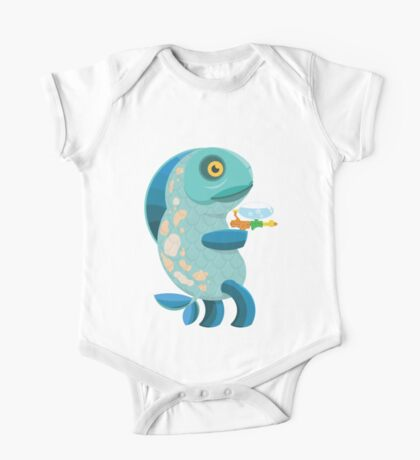 Fish Thing with a Squirt Gun One Piece - Short Sleeve