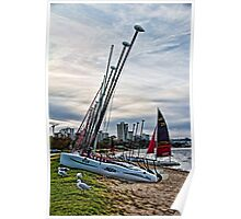 Yachts on the Swan Poster