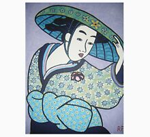 Geisha in blue hat Unisex T-Shirt