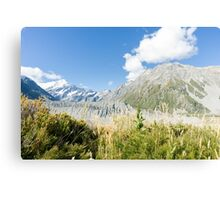 Aoraki-Mt Cook, scenery, South Island, New Zealand Canvas Print