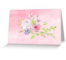Silky Pinky Rose Greeting Card