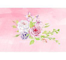 Silky Pinky Rose Photographic Print