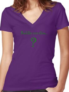 the riddler  Women's Fitted V-Neck T-Shirt