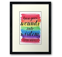 Oprah Winfrey Quotation Framed Print