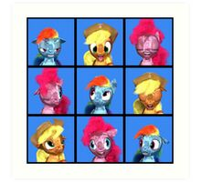 MLP 3D - The Pony Bunch Art Print