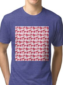 Valentine Hearts Tri-blend T-Shirt