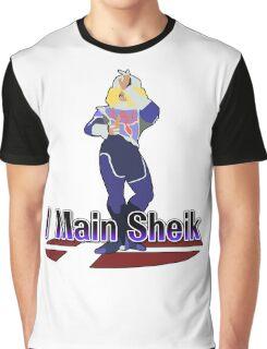 I Main Sheik - Super Smash Bros Melee Graphic T-Shirt