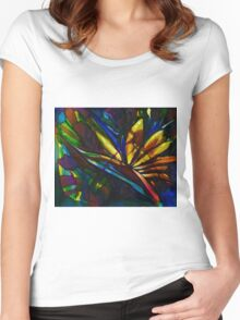 Bird of paradise flower Women's Fitted Scoop T-Shirt