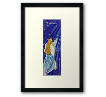 Angel.My Blue Angel Framed Print