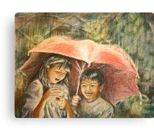 Hunting Fireflies Canvas Print