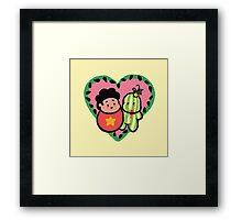 Baby Stevens in Love Framed Print