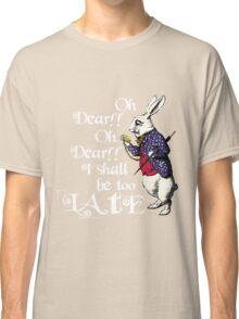 Wonderland White Rabbit Classic T-Shirt