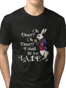 Wonderland White Rabbit Tri-blend T-Shirt