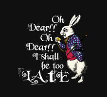 Wonderland White Rabbit Women's Fitted V-Neck T-Shirt