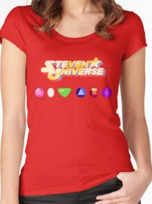 Steven Universe & The Crystal Gems Women's Fitted Scoop T-Shirt