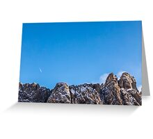 wind on the summit of the mountain Greeting Card